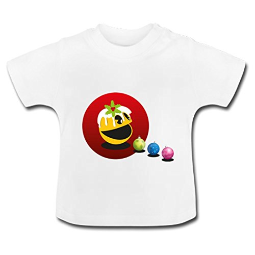 LARger pac-man Baby Classic T-Shirt 24 months White
