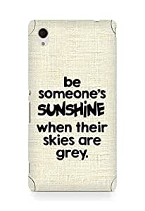 AMEZ be someone's sunshine when their skies are grey Back Cover For Sony Xperia M4