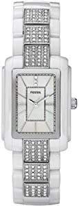 Fossil Women's CE1015 White Ceramic Quartz Watch with Mother-Of-Pearl Dial
