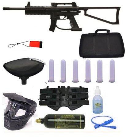 Spyder MR4 MR-4 Paintball Gun Sniper Set