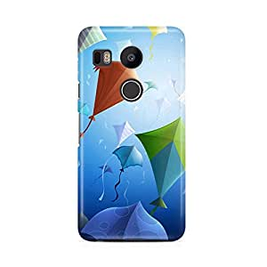 Motivatebox - LG Nexus 5X Back Cover - Kites Art Polycarbonate 3D Hard case protective back cover. Premium Quality designer Printed 3D Matte finish hard case back cover.