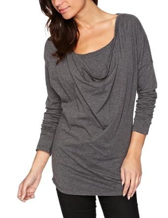 Kuyichi Allaboard Printed Women's T-Shirt Stone Grey Melange Small