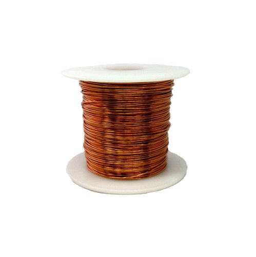 "Magnet Wire, Enameled Copper Wire, 20 Awg, 1.0 Lbs, 319' Length, 0.0331"" Diameter, Natural"