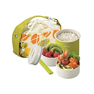 Zojirushi Mini Stainless Thermal Lunch Box, Green