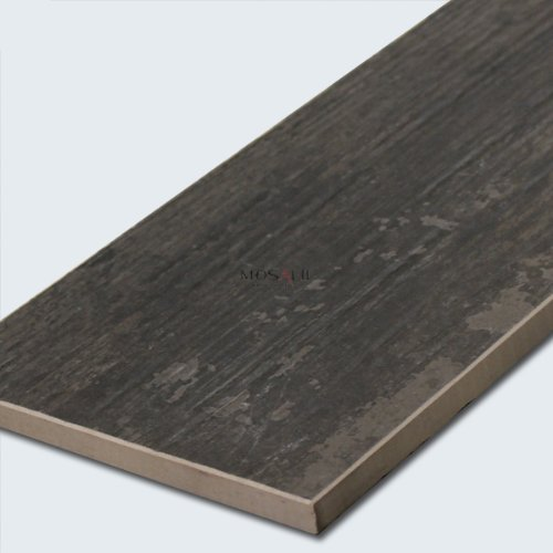 Elmwood Holzoptik Boden Fliesen Feinsteinzeug Black 15x90cm