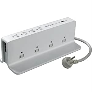 Belkin 8 Outlets 3195 Joule Compact Surge Protector, 6 feet
