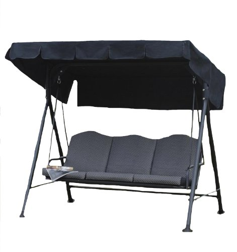 Transcontinental Group Ltd Rhodes Cushioned 3-Seat Steel Hammock
