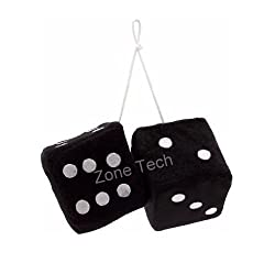 See Zone Tech Black Hanging Dice- A Pair Details