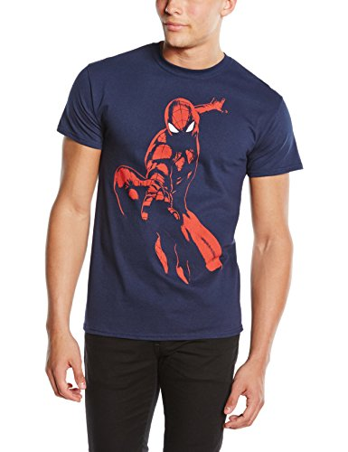 Marvel - Ultimate Spiderman Spidey Shadow, T-shirt da uomo, blu (navy), L