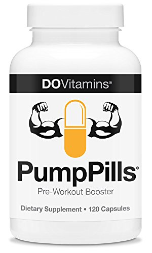 PumpPills - Nitric Oxide Booster, Caffeine Free Pre Workout Supplement for Men & Women without Creatine, Pre-Workout w/ L-Citrulline & Beta-Alanine - Vegan, Paleo, Non-GMO - 120 Capsules (Nox Running Lights compare prices)