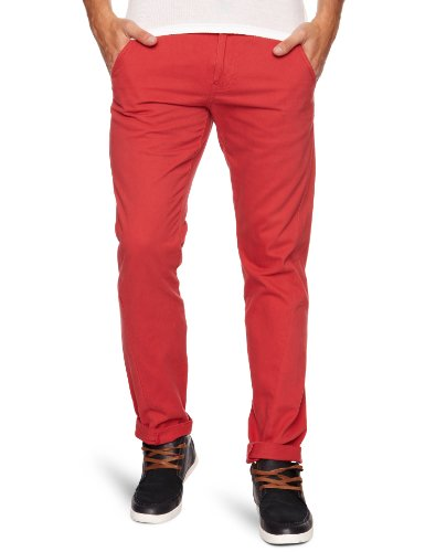 Bellfield MTRS-11178BR3 Slim Men's Trousers Burnt Red W28 INxL32 IN