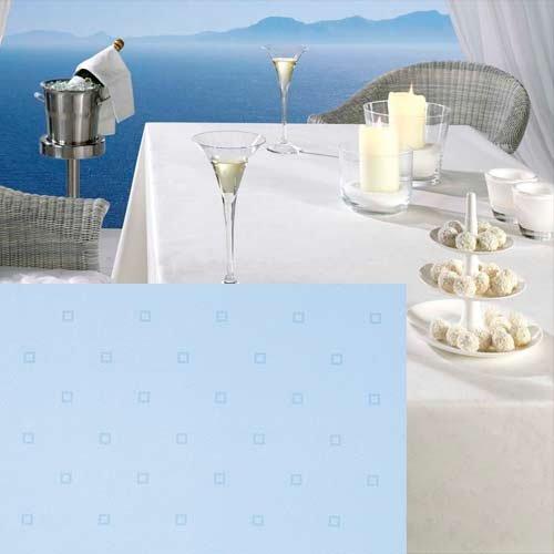 Tischdecke FLAIR 160 cm, rund, hellblau (kleine