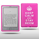 "AMAZON KINDLE 4 ""KEEP CALM AND STAY REEM"" SILIKON SKIN CASE SCHUTZH�LLE IN ROSA (PINK) / WEI�von ""CELLAPOD"""