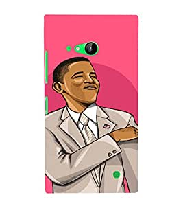 PrintVisa Cool Obama Design 3D Hard Polycarbonate Designer Back Case Cover for Nokia Lumia 730