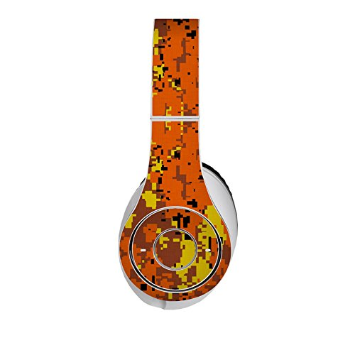 Digital Orange Camo Design Protective Decal Skin Sticker (High Gloss Coating) For Beats Studio Headphone (Headsets Not Included)