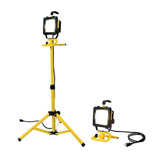 Portable Telescopic Light Tower: All-Pro LED Portable Worklight With Telescoping Tripod, 46