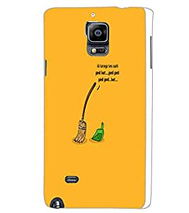 SAMSUNG GALAXY NOTE 4 SWEEPING Back Cover by PRINTSWAG
