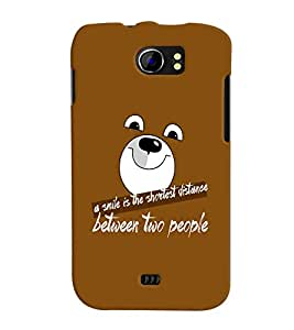 Fuson Meaningful Text Back Case Cover for MICROMAX CANVAS 2 PLUS A110 A110Q - D3977