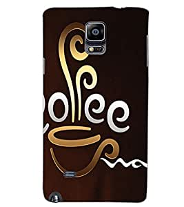 SAMSUNG GALAXY NOTE 4 COFFEE Back Cover by PRINTSWAG