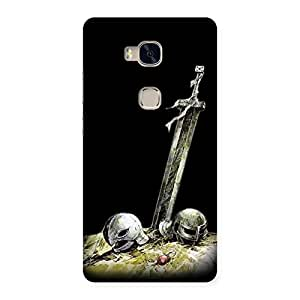 Warrior Sword Back Case Cover for Huawei Honor 5X