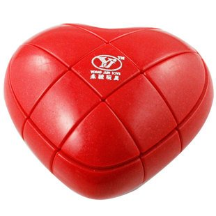 GoodPlay YJ 3x3x3 Love Heart Brain Teaser Speed Cube Puzzle Red - 1