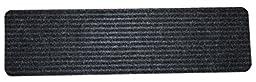 Dean Black Ribbed Indoor/Outdoor Non-Skid Slip Resistant Carpet Stair Treads/Runner Rugs (7, 30\