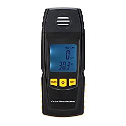 KKmoon Handheld Carbon Monoxide Meter with High Precision CO Gas Tester Monitor Detector Gauge 0-1000ppm GM8805 by KKmoon