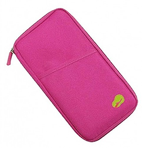 Discover Bargain PASSPORT CREDIT ID CARD HOLDER CASH ORGANIZER POUCH TRAVEL BAG WALLET PINK