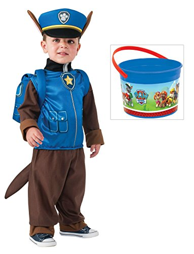 Paw Patrol - Chase Costume with PAW Patrol Bucket, Small (4-6)