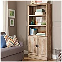 Better Homes and Gardens Crossmill Bookcase with Doors (Weathered or Heritage Walnut)