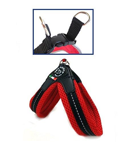 pettorina-tre-ponti-in-rete-easy-fit-con-chiusura-in-plastica-dal-colore-rosso-con-inserti-catarifra