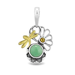 Fritz Casuse Mixed Metal Variscite Citrine Dragonfly Charm