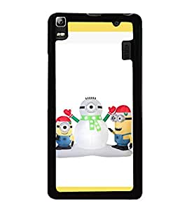 printtech Minions Christmas Snowman Back Case Cover for Lenovo A7000