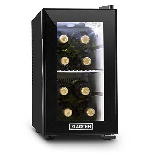 Klarstein Beerlocker S - Mini réfrigérateur, minibar de 21L (classe A+, porte en verre double isolation, éclairage LED)