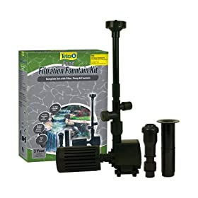 Tetra Pond FK3 Filtration Fountain Kit with Pump, Pre-Filter, and Fountain Kit, Ponds up to 100 Gallons