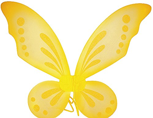[Fairy Wings - Pixie Wings - Tinkerbell Wings - Yellow] (Dress Up Fairy Wings)