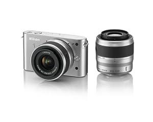 Nikon 1 J1 10.1 MP HD Digital Camera System with 10-30mm VR and 30-110mm VR 1 NIKKOR Lenses (Silver)