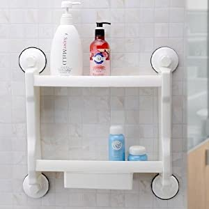 Amazing Bathroom Corner Shelf Stand 4Tier Layers Storage Sundries Rack PVC