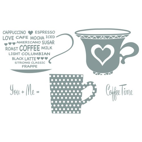 Spellbinders SCS-012 Celebra'tions Cup for Two Stamp Set