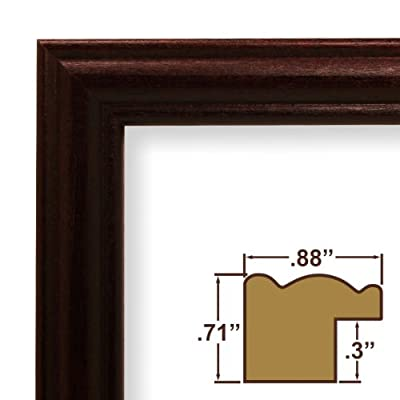 8x8 Custom Picture Frame / Poster Frame .88 Wide Complete Cherry Red Wood Frame (29POPCH)