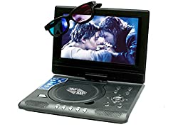 ABB 7.8inch 3D PORTABLE EVD/ DVD PLAYER with GAMING+TV