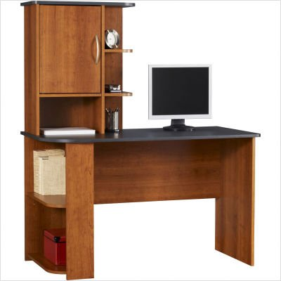Buy Low Price Comfortable Ameriwood Computer?Wood Desk in Cherry Finish (B002L3C9R6)