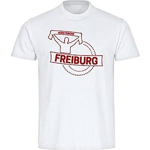 T-Shirt Rundhals Fankurve Freiburg weiß Herren Gr. S bis 5XL
