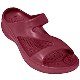 DAWGS Ladies Z Sandal,Burgundy,5 M US