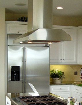Imperial 42 Inch W X 24 Inch D Slim Line Island Mount Range Hood, 735 Cfm, For Ceilings 7' - 11', Black Or White front-625968
