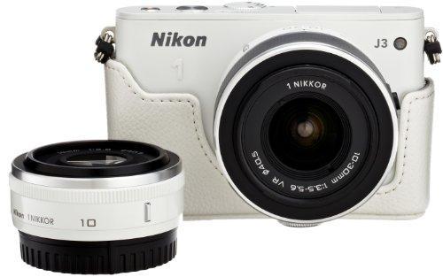 Amazon.co.jp限定Nikon1 J3 HLK+10mm/2.8ダブルレンズセットA ホワイト N1J3+10/2.8WHWLKA