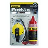 Stanley 47-483 100 FatMax Xtreme Chalk Box 2 Piece Set with 4 oz Bottle of Stanley Red Chalk ~ Stanley