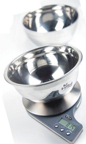 Balance de cuisine en inox avec 2 bols jusqu'à 5 kg