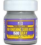 Mr.ホビー Mr.フィニッシング サーフェイサー1500 グレー 滑らかフィニッシュの高精細仕上げ剤 ビン入り 40ml  SF289