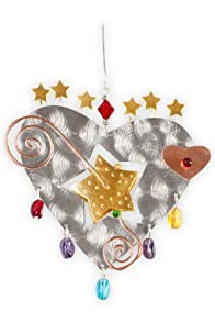 Pilgrim Imports Starburst Heart Metal Fair Trade Ornament